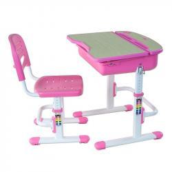 Capri Pink Regulowane Biurko + Krzesełko dla Dzieci