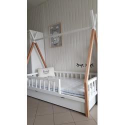 Łóżko Tipi Mini 160x80 Naturalny Biały (bez szuflady)