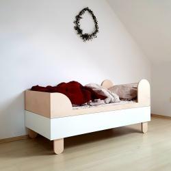 Wood Luck Basic Łóżeczko 160x80cm (white)