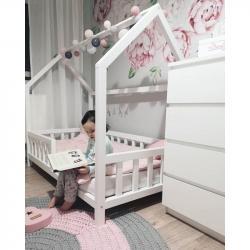 Łóżko Domek Simple Plus 160x80 Biały (bez szuflady)