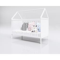 Łóżko Domek 140x70 białe (bez szuflady)