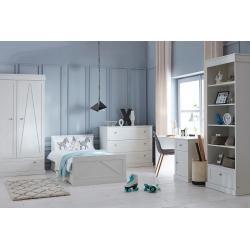 Pinio Marie Zestaw C (szafa 2 drzwiowa + łóżko 200x90 + szuflada + komoda + biurko + regał)
