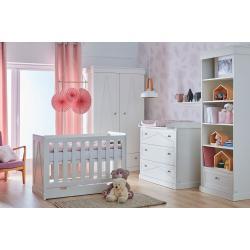 Pinio Marie Zestaw D (szafa 2 drzwiowa + łóżeczko 120x60 + szuflada + komoda + przewijak + regał + półka)