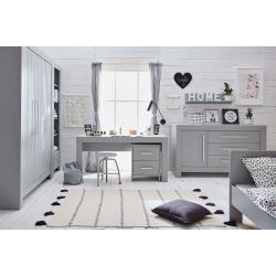 Pinio Calmo Zestaw A (szafa trzydrzwiowa + łóżko 200x90 + komoda + biurko + kontenerek do biurka + regał + półka)