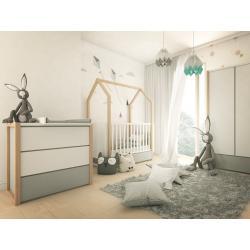 Bellamy Pinette Zestaw B (łóżeczko 140x70 + komoda + przewijak + szafa)