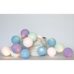 Cotton Ball Lights Lampki Baby Lavender