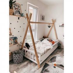 Łóżko Tipi Kimi 180x90 Biały Naturalny