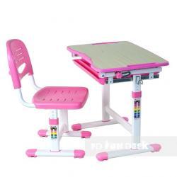 Piccolino Pink Regulowane Biurko + Krzesełko dla Dzieci