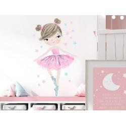 Naklejka Baletnica Różowa
