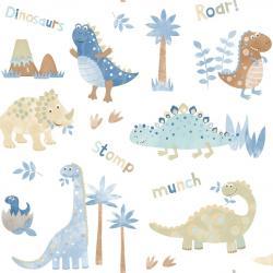 Tapeta Dinozaury Niebieska G45127