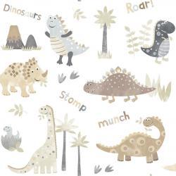 Tapeta Dinozaury Beżowa G45128