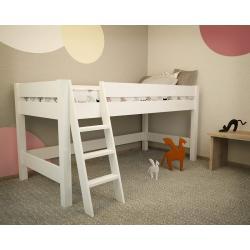 Łóżko Lara na Antresoli 200x90 (białe)