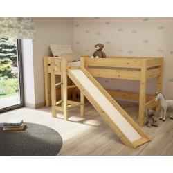 Łóżko Lara ze Zjeżdżalnią 200x90 (naturalne)