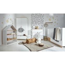 Bellamy Nomi Zestaw B (łóżeczko 140x70 + komoda + szafa + regał + półka)
