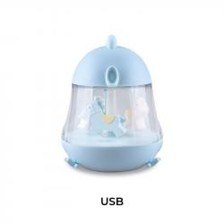Lampka z Pozytywką Kurczaczek Niebieski