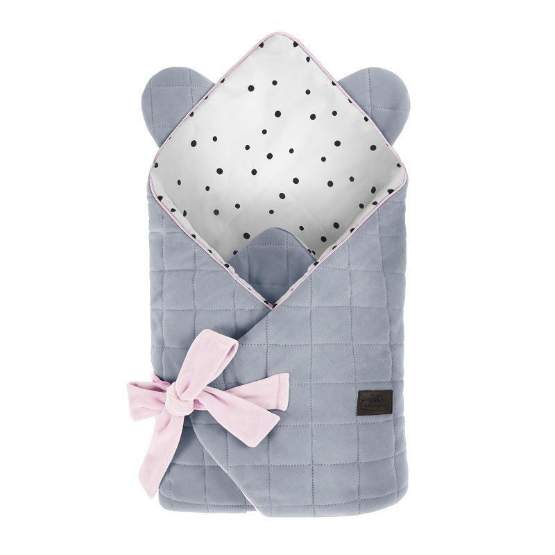 Sleepe Rożek Niemowlęcy Royal Baby Grey/Pink