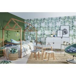 Bellamy Lotta Zestaw A (łóżko domek 200x90 + komoda 6 szuflad + stolik + 2krzesełka)
