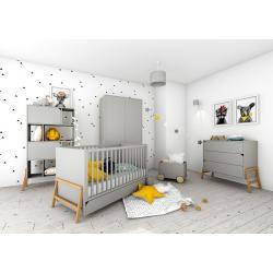 Bellamy Lotta Zestaw C ( łóżeczko 140x70 + komoda + szafa + regał + skrzynia na zabawki)