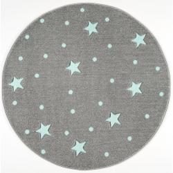Dywan Okrągły Galaxy Grey-Mint