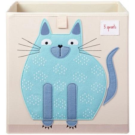 3 Sprouts Pudełko na Zabawki Kot Blue