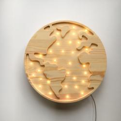 Globus - Lampka Drewniana Lights My Love