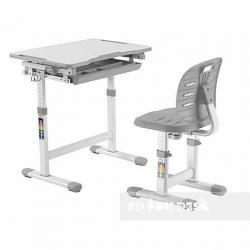 Piccolino III Grey Regulowane Biurko + Krzesełko dla Dzieci