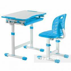 Fun Desk Piccolino III Blue Regulowane Biurko + Krzesełko dla Dzieci
