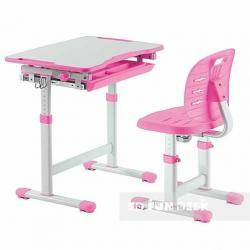 Fun Desk Piccolino III Pink Regulowane Biurko + Krzesełko dla Dzieci