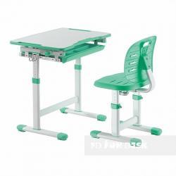 Fun Desk Piccolino III Green Regulowane Biurko + Krzesełko dla Dzieci