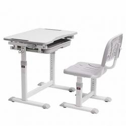 Fun Desk Sorpresa Grey Regulowane Biurko + Krzesełko dla Dzieci