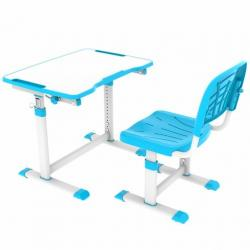 Olea Blue Regulowane Biurko + Krzesełko dla Dzieci