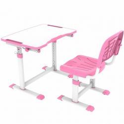 Olea Pink Regulowane Biurko + Krzesełko dla Dzieci