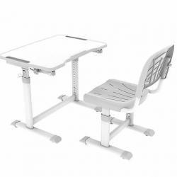 Fun Desk Olea Grey Regulowane Biurko + Krzesełko dla Dzieci