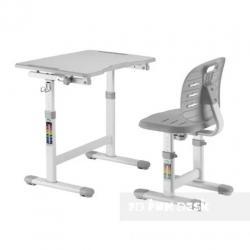 Fun Desk Omino Grey Regulowane Biurko + Krzesełko dla Dzieci