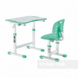 Fun Desk Omino Green Regulowane Biurko + Krzesełko dla Dzieci