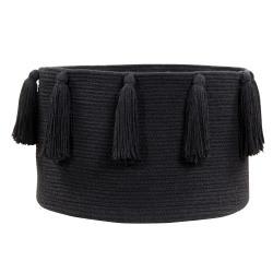 Lorena Canals Kosz dekoracyjny Tassels Black