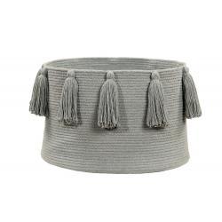 Lorena Canals Kosz dekoracyjny Tassels Light Grey