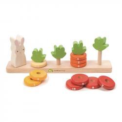 Drewniana zabawka - Królik i liczenie marchewek, Tender Leaf Toys