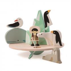 Drewniana gra zręcznościowa - Balansujący Biegun Polarny, Tender Leaf Toys