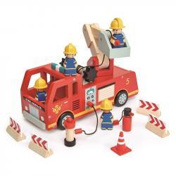 Drewniany wóz strażacki, Tender Leaf Toys