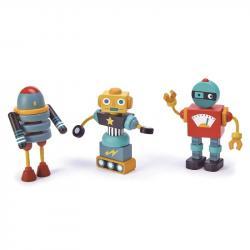 Drewniane roboty, zabawka konstrukcyjna, Tender Leaf Toys