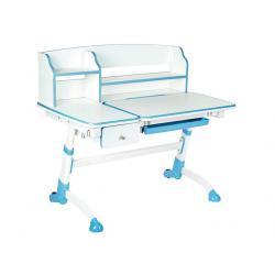 Fun Desk Amare II z Szufladą Blue Regulowane Biurko