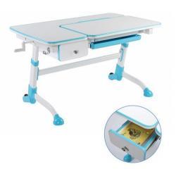 Fun Desk Amare z Szufladą Blue Regulowane Biurko