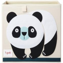 3 Sprouts Pudełko na Zabawki Panda Black