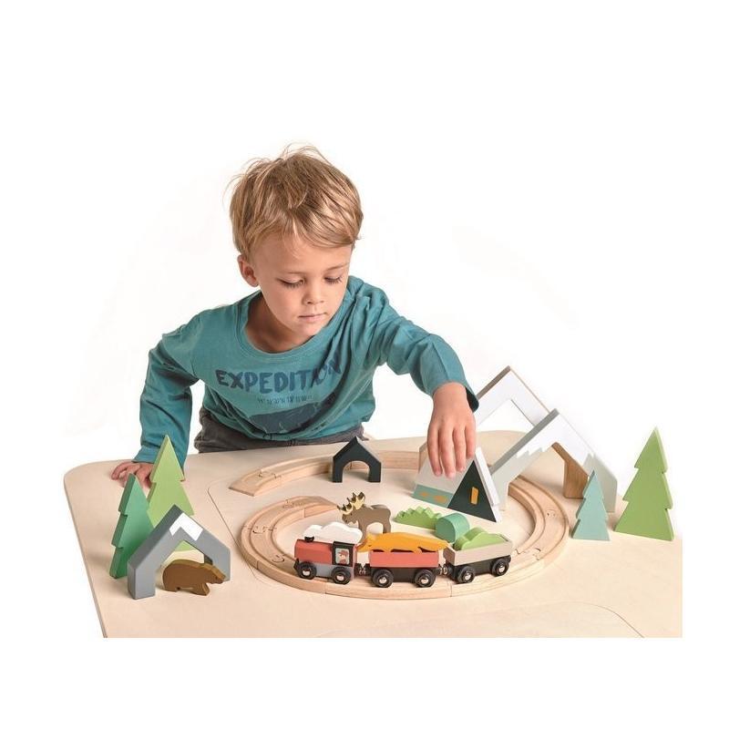 Drewniana kolejka, Tender Leaf Toys
