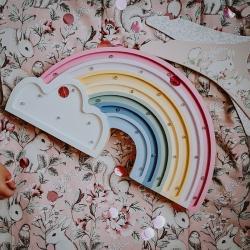 Tęcza - Lampka Drewniana Lights My Love (różne kolory)