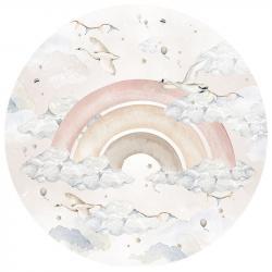 Naklejka Rainbow Girl In A Circle (różne wielkości)