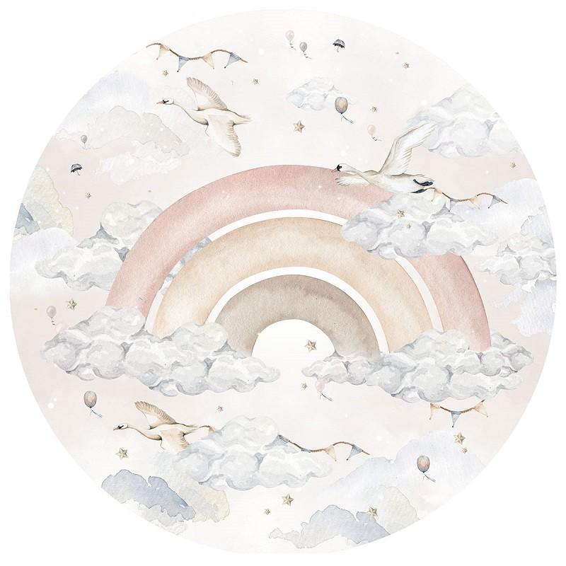Naklejka Peony In A Circle (różne wielkości)