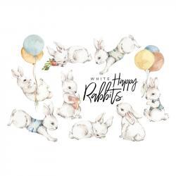 Naklejka Happy Rabbits Wonderland Zestaw