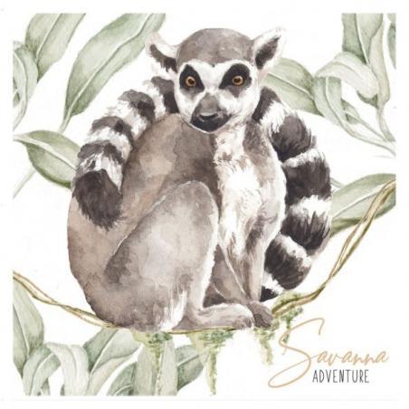 Naklejka Lemur
